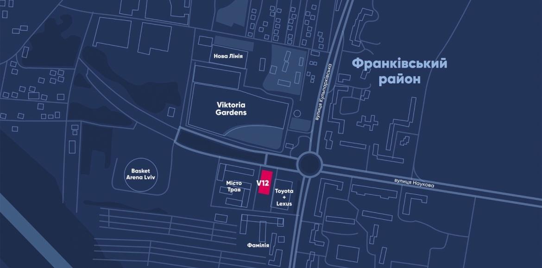 V12 Business center - Lviv, 226, Kylparkivska str. (opposite to Victoria Gardens shopping mall)